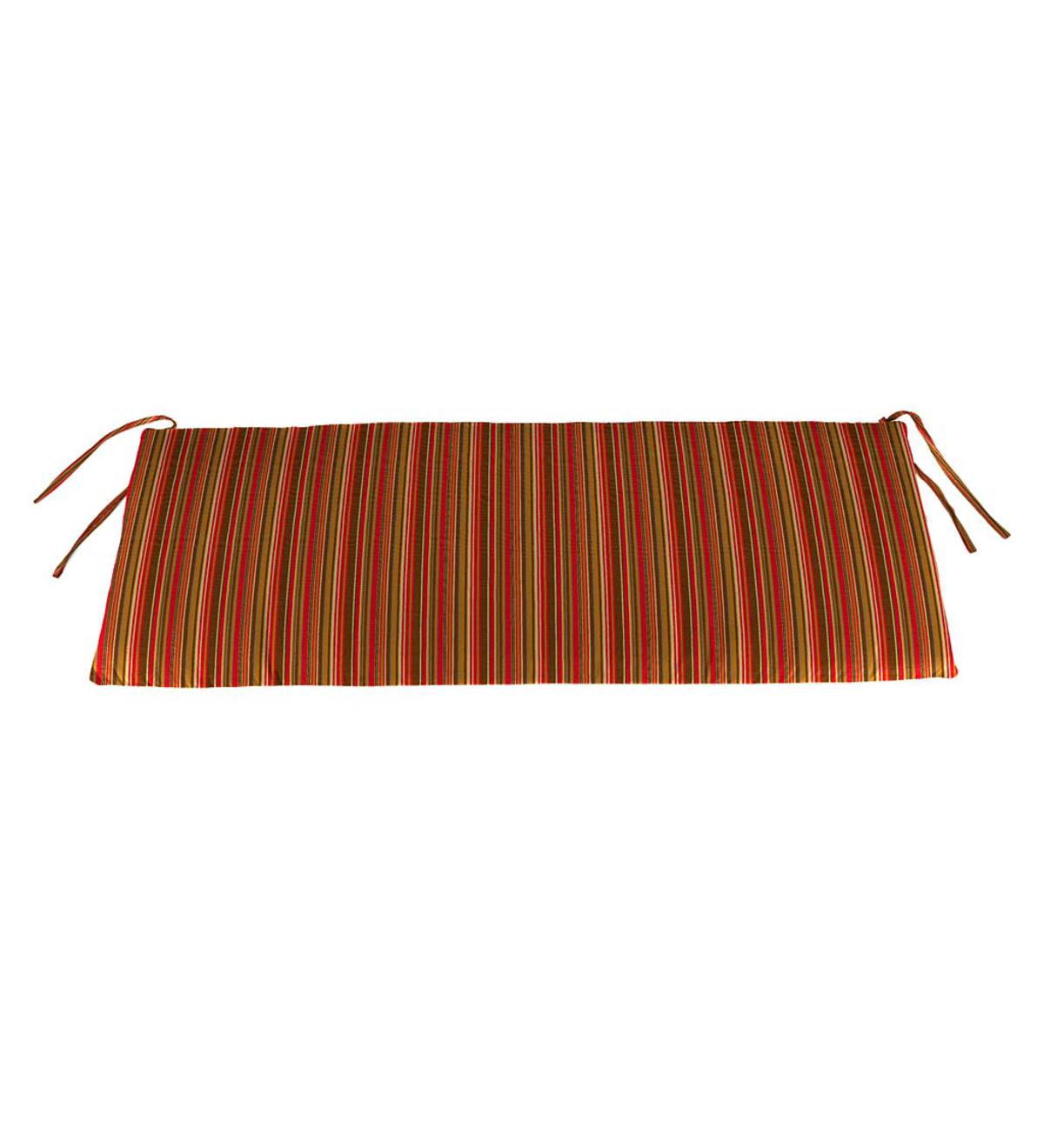 "Sunbrella Classic Swing/Bench Cushion, 41"" x 20"" x 3"" - Cherry Stripe"