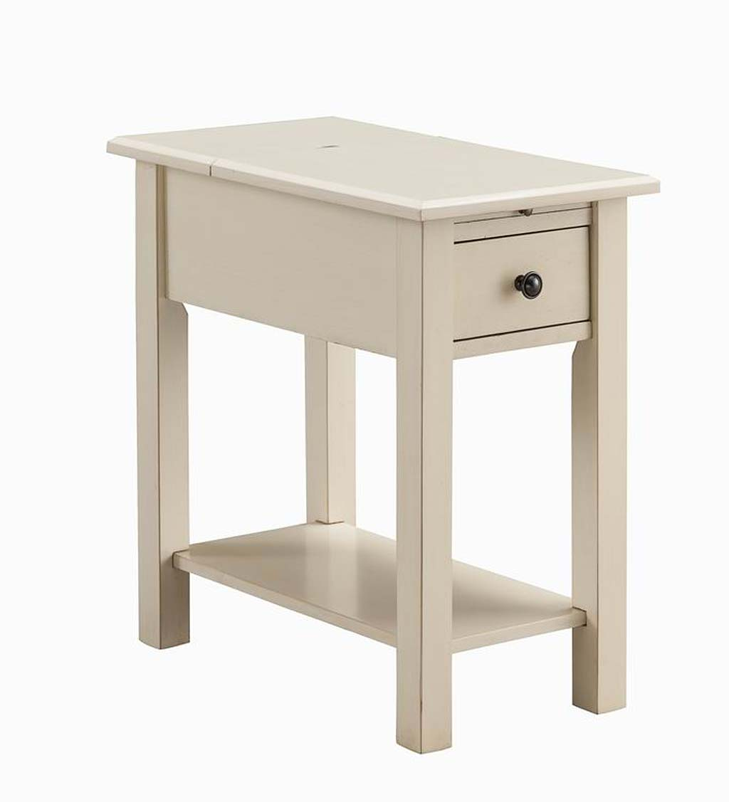 Benton Side Table with Charging Station