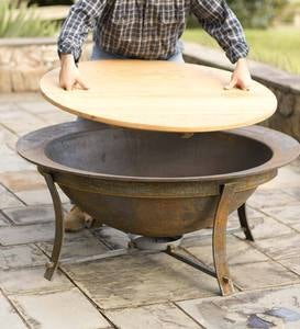 Syrup Kettle Fire Pit with Stand Set