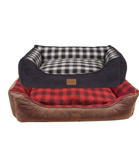 Pendleton Kuddler Ombre Plaid Pet Bed, Large