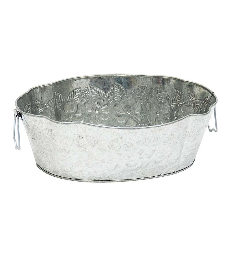 Galvanized Steel Embossed Tub swatch image