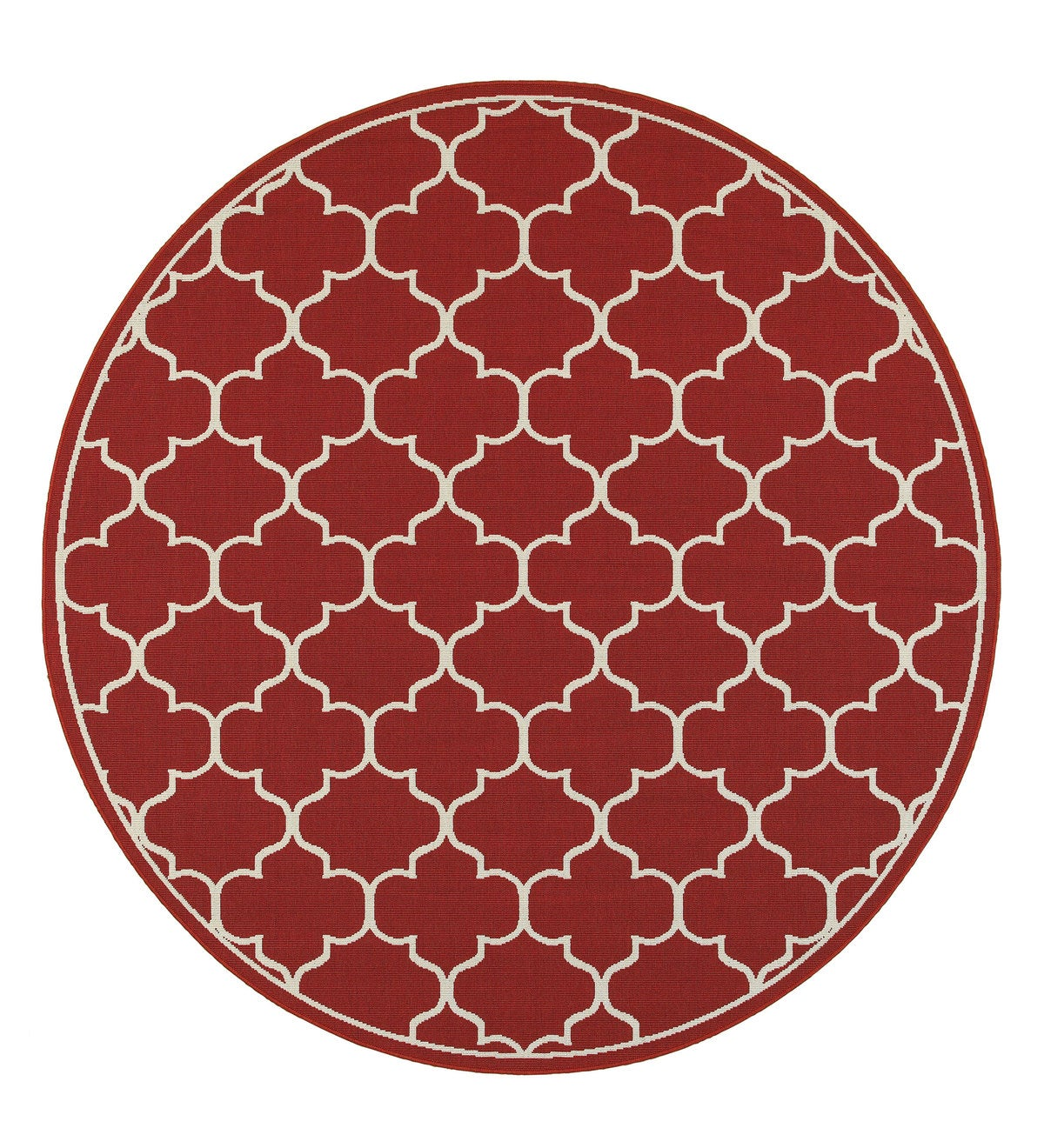 "Lexington Quatrefoil Rug, 7'10""Round"