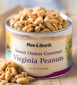 Sweet Onion Virginia Peanuts, 18 oz. Resealable Tin