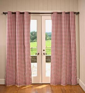 Thermalogic™ Energy Efficient Insulated Check Grommet-Top Curtain Pairs