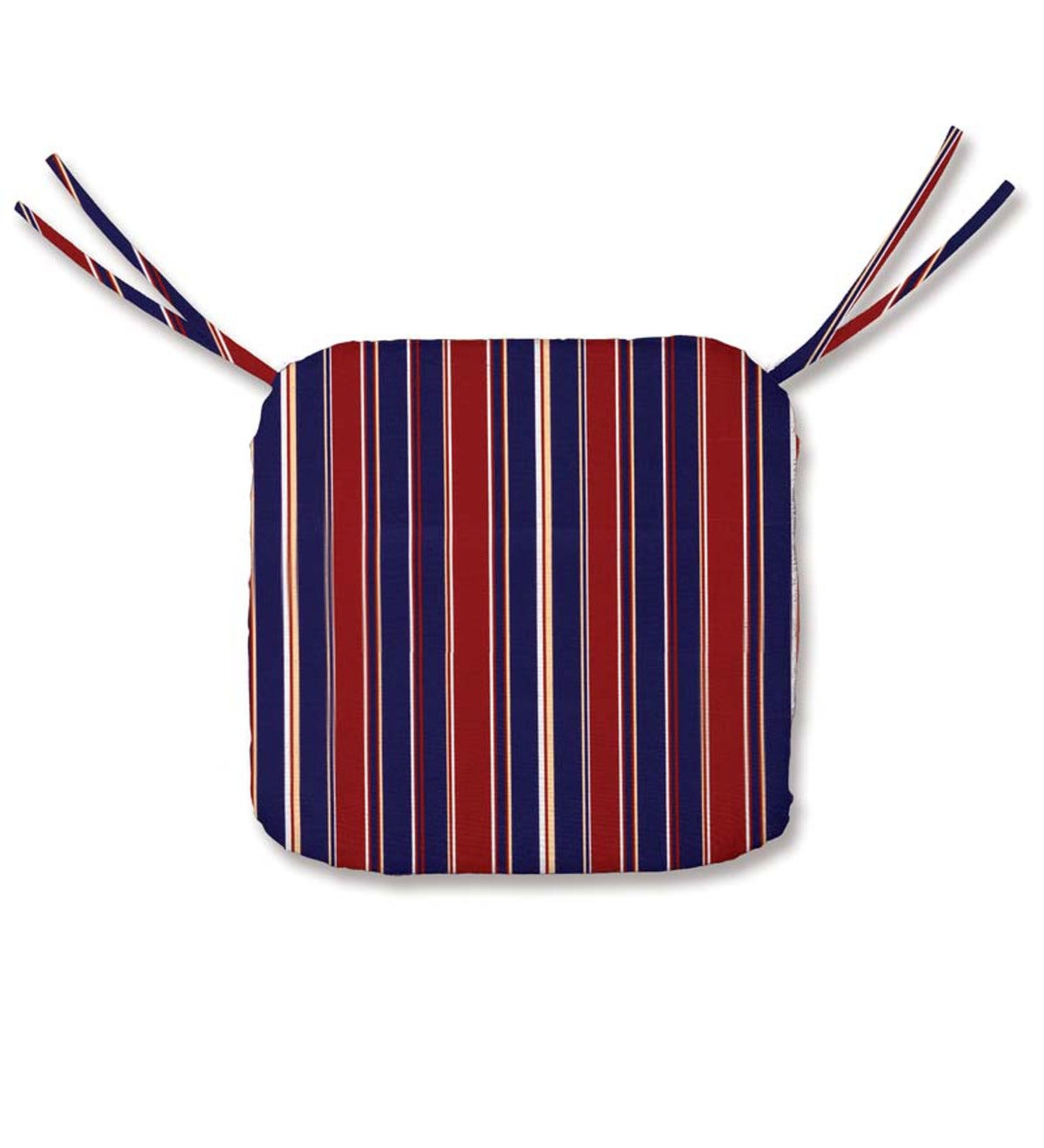 "Sale! Polyester Classic Chair Cushion With Ties, 19½""x 19""x 3"""