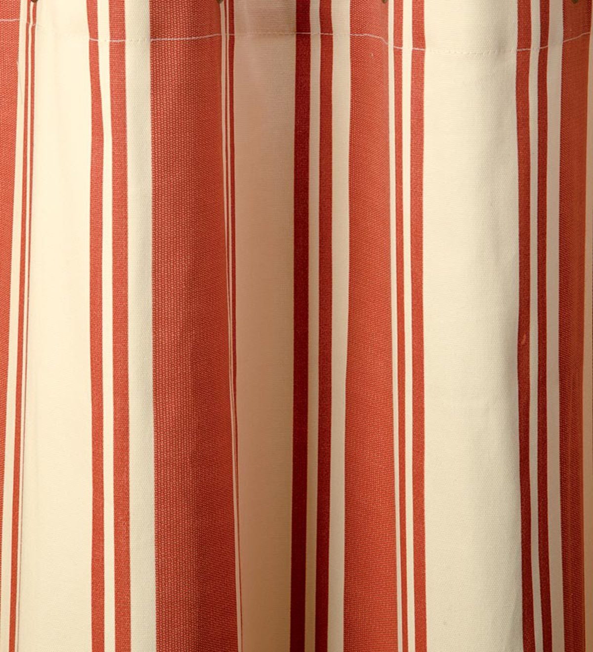 "84""L Thermalogic™ Wide Stripe Grommet-Top Insulated Curtains - Terra Cotta"