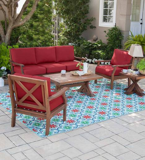 Claremont Seating Collection Eucalyptus Wood Outdoor