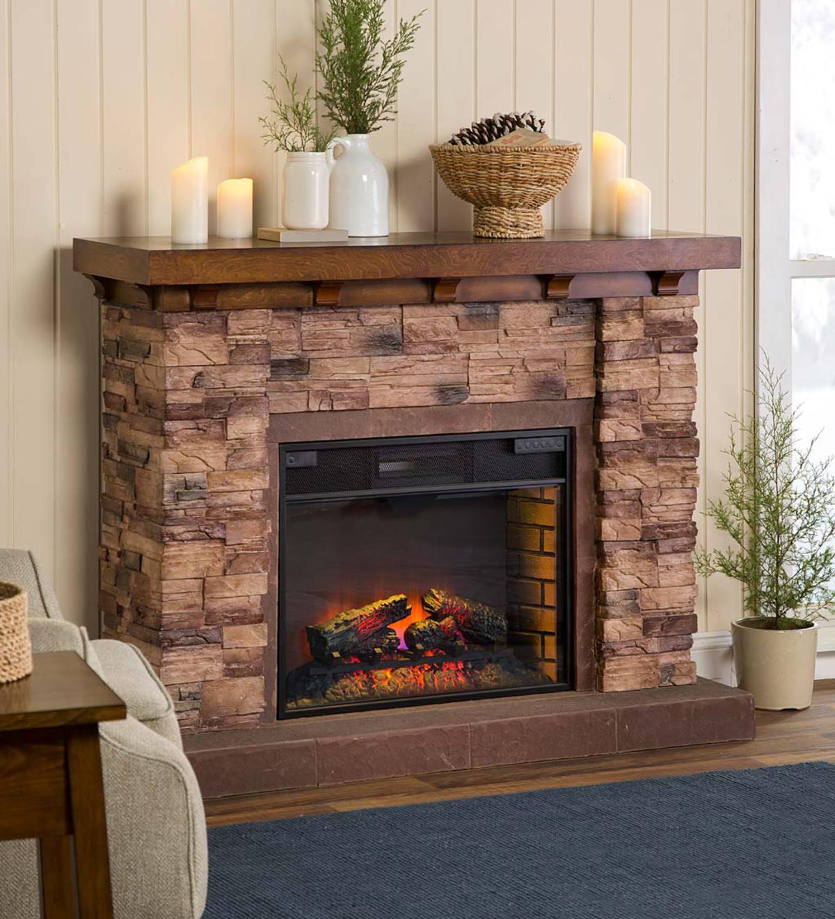 Quartz Infrared Stone Fireplace Plowhearth