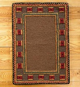 Riverwood Wool Rug, 5' x 8' - Brown