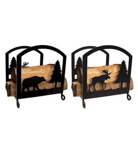 Bear & Moose Fireplace Log Rack