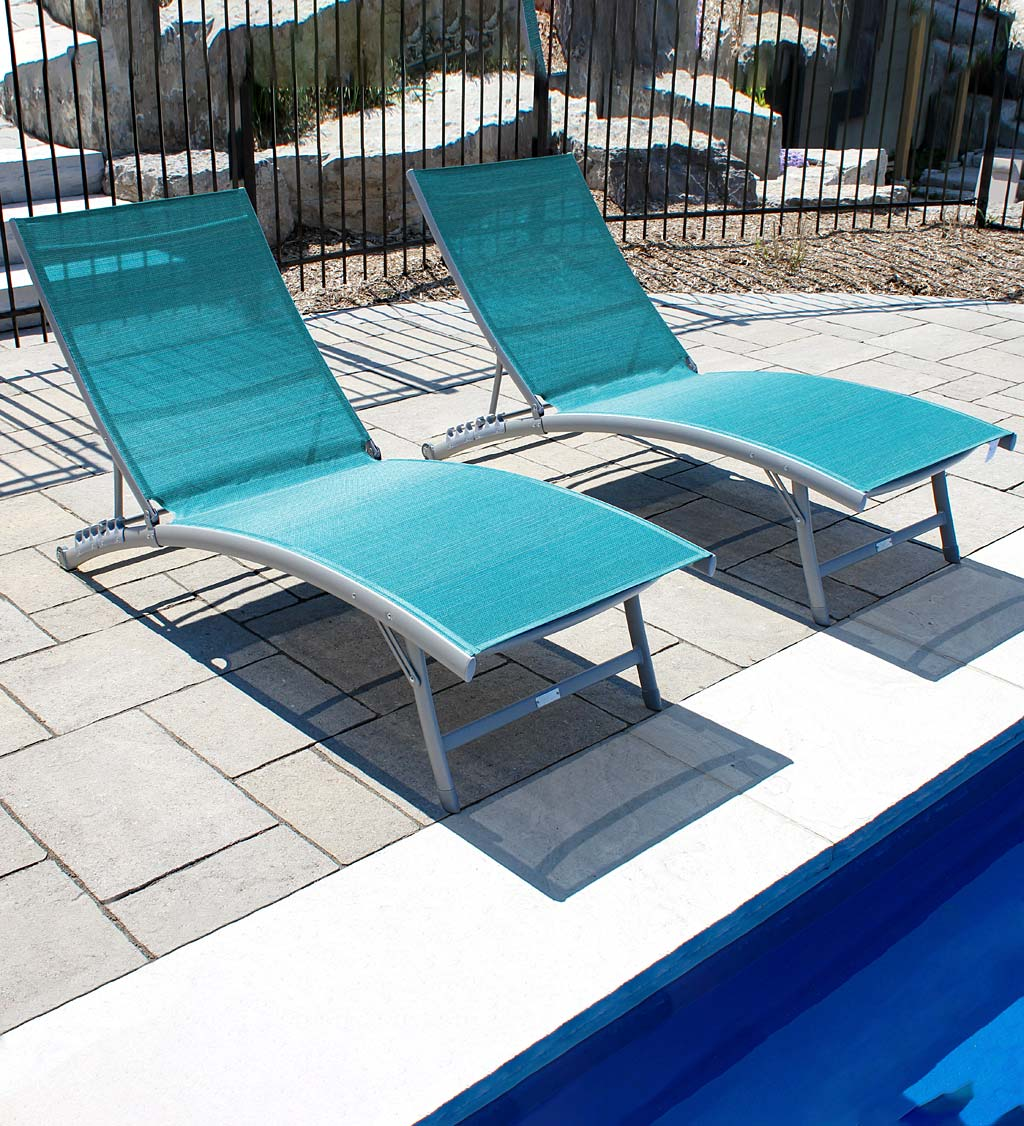 Clearwater Aluminum Lounge Chair Set