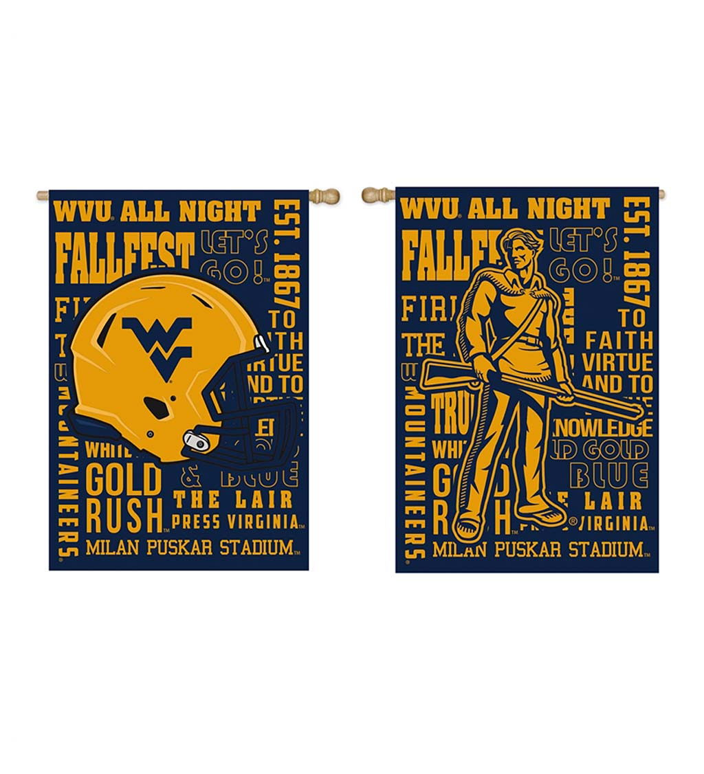 Double-Sided Fan Rules College Team Pride Sueded House Flag