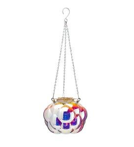 Hanging Bubbles Solar Iridescent Glass Light