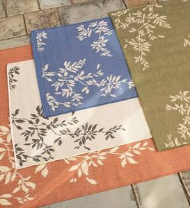Leafy Vines Indoor/Outdoor Polypropylene Rug