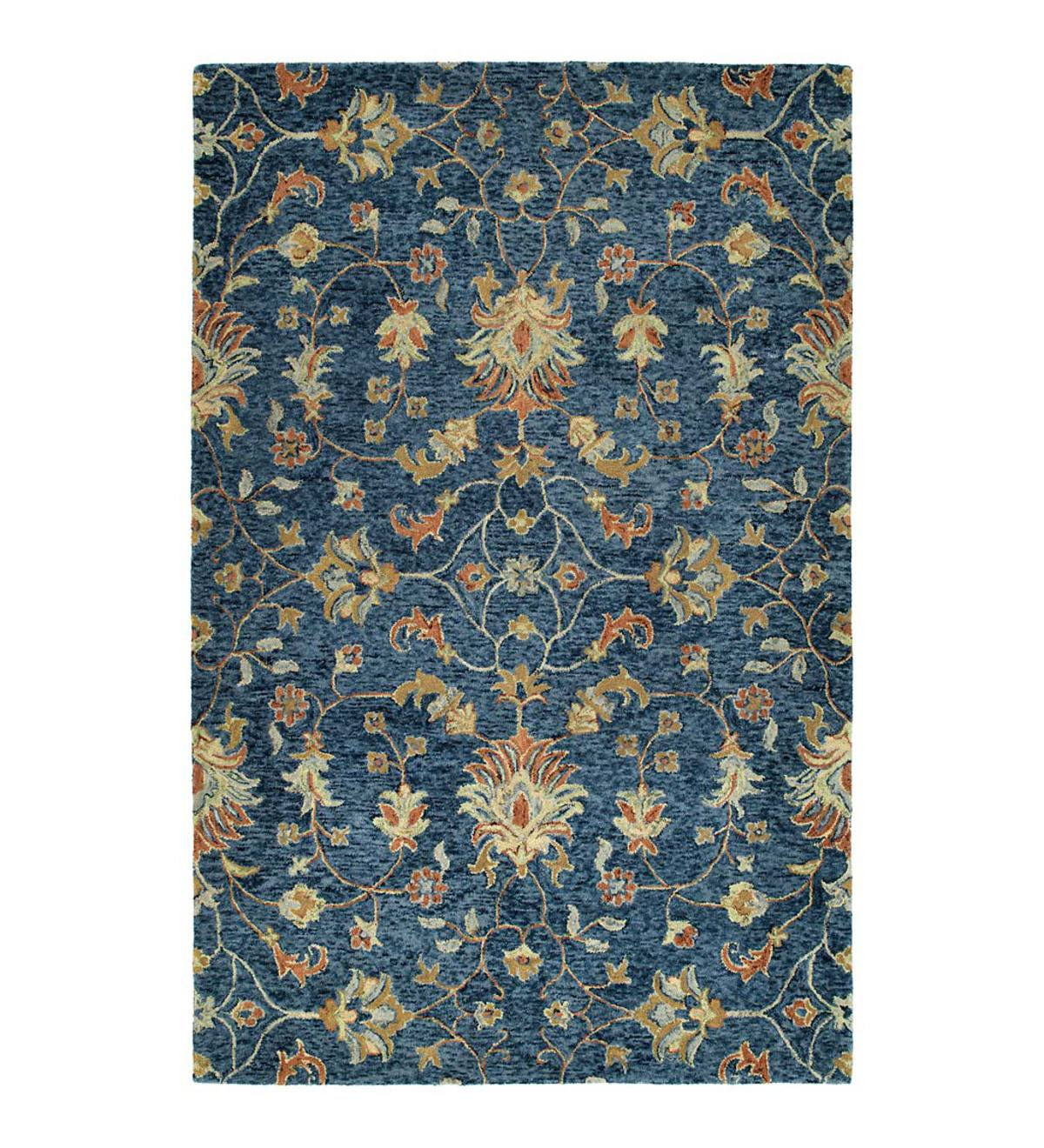 Carmona Denim Wool Rug, 9' x 12'