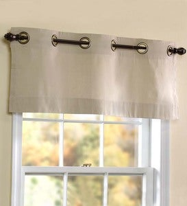 "40""W x 15""L Thermalogic Energy Efficient Insulated Solid Grommet-Top Valance"