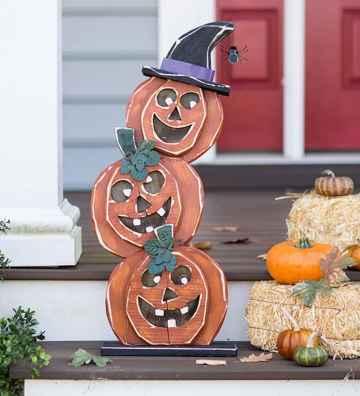 Witch/'s Hat on Jack   Wool /& Wool Felt Applique Halloween Pattern Free Shipping