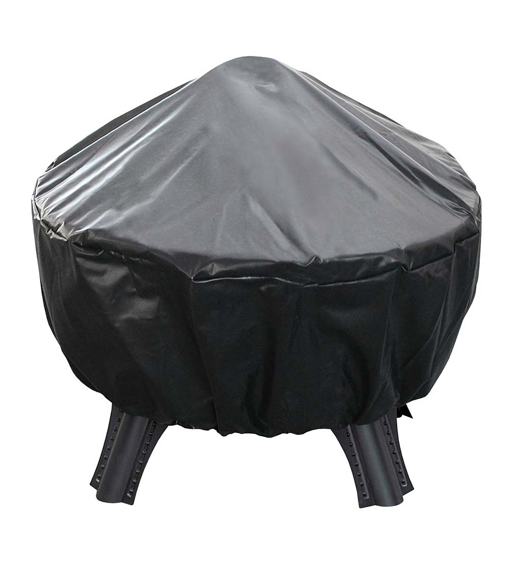 Savannah Wood-Burning Fire Pit Cover - Black