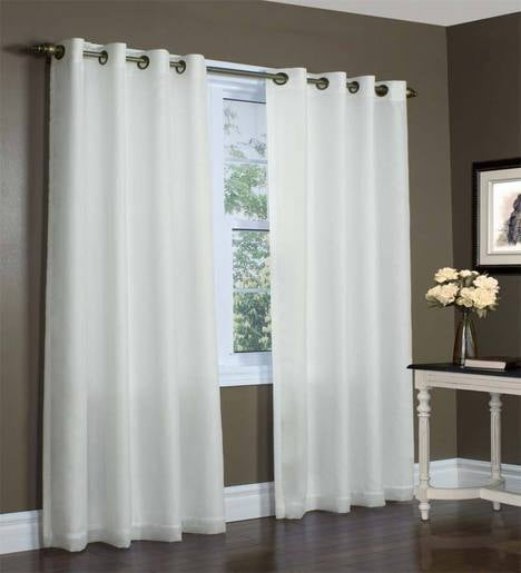 "54""W x 95""L Thermovoile Lined Grommet-Top European-Style Voile Panel"