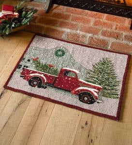 Holiday Farmer's Market Wool Accent Rug
