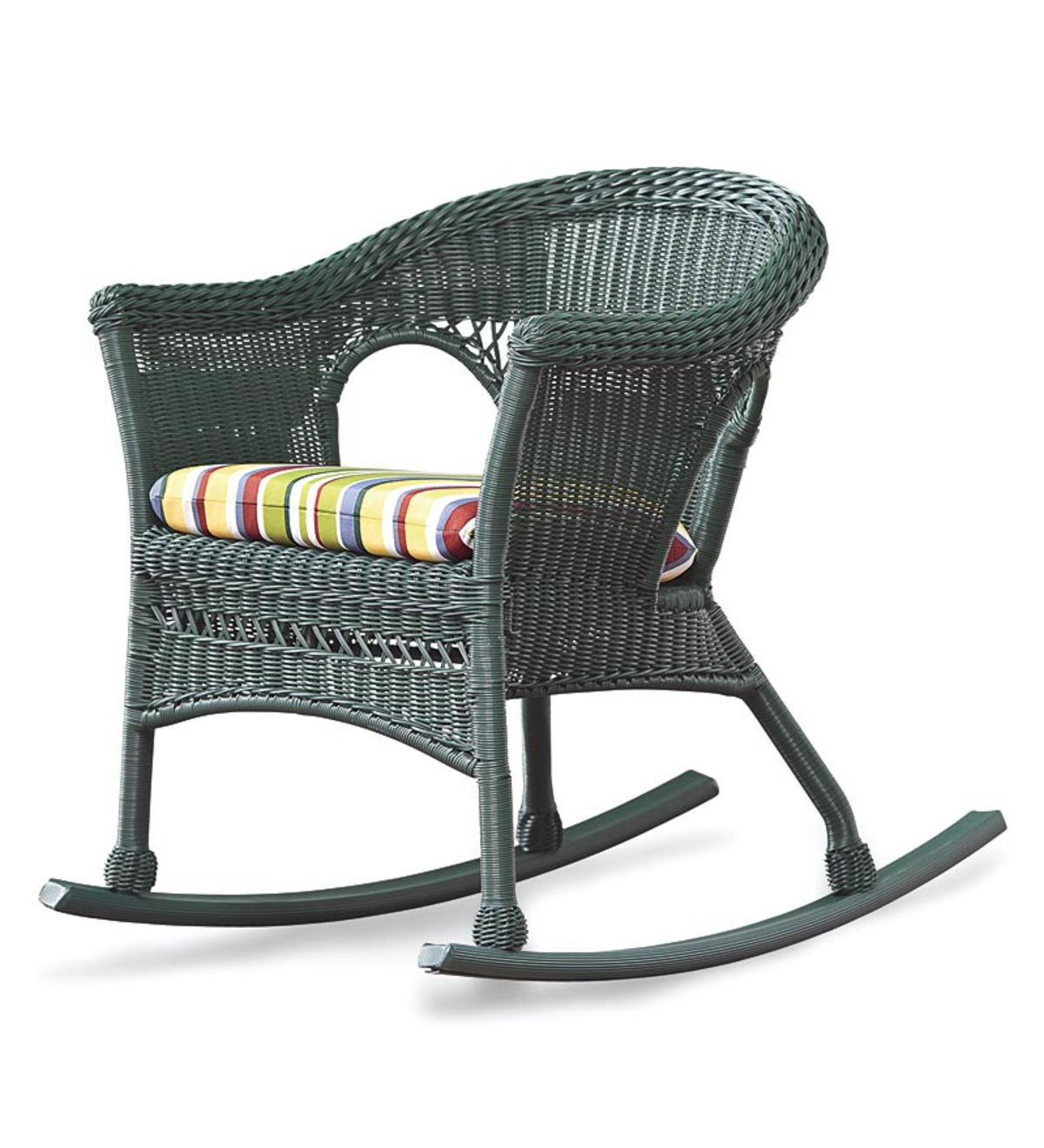 Awesome All Weather Resin Outdoor Everyday Wicker Rocker Green Machost Co Dining Chair Design Ideas Machostcouk