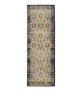 "Siena Floral Area Rug, 1'10""x 3' - Ivory"