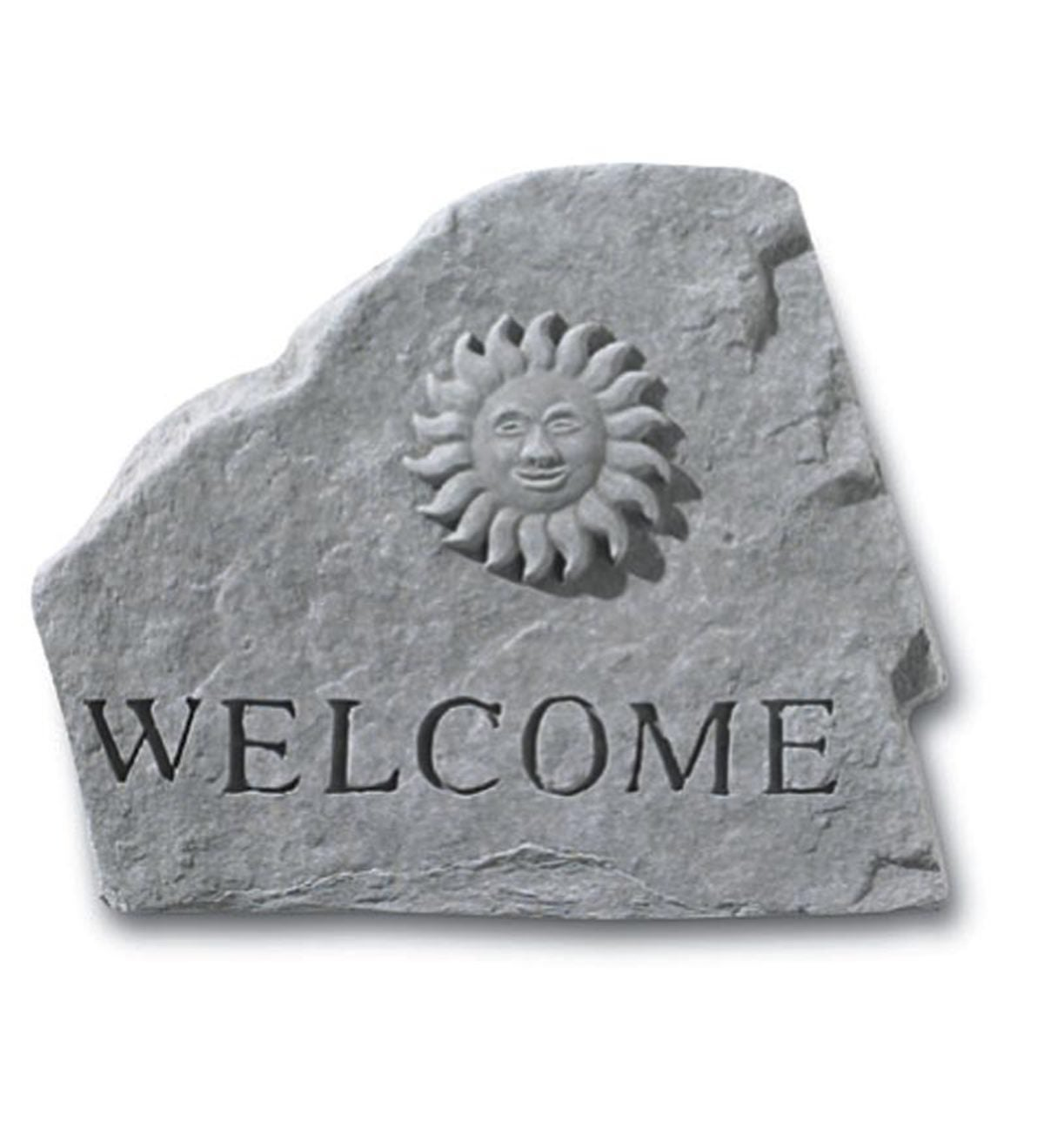 USA-Made Cast Stone Welcome Sun Plaque