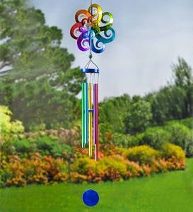 Large Hanging Solar Spinner Wind Chime