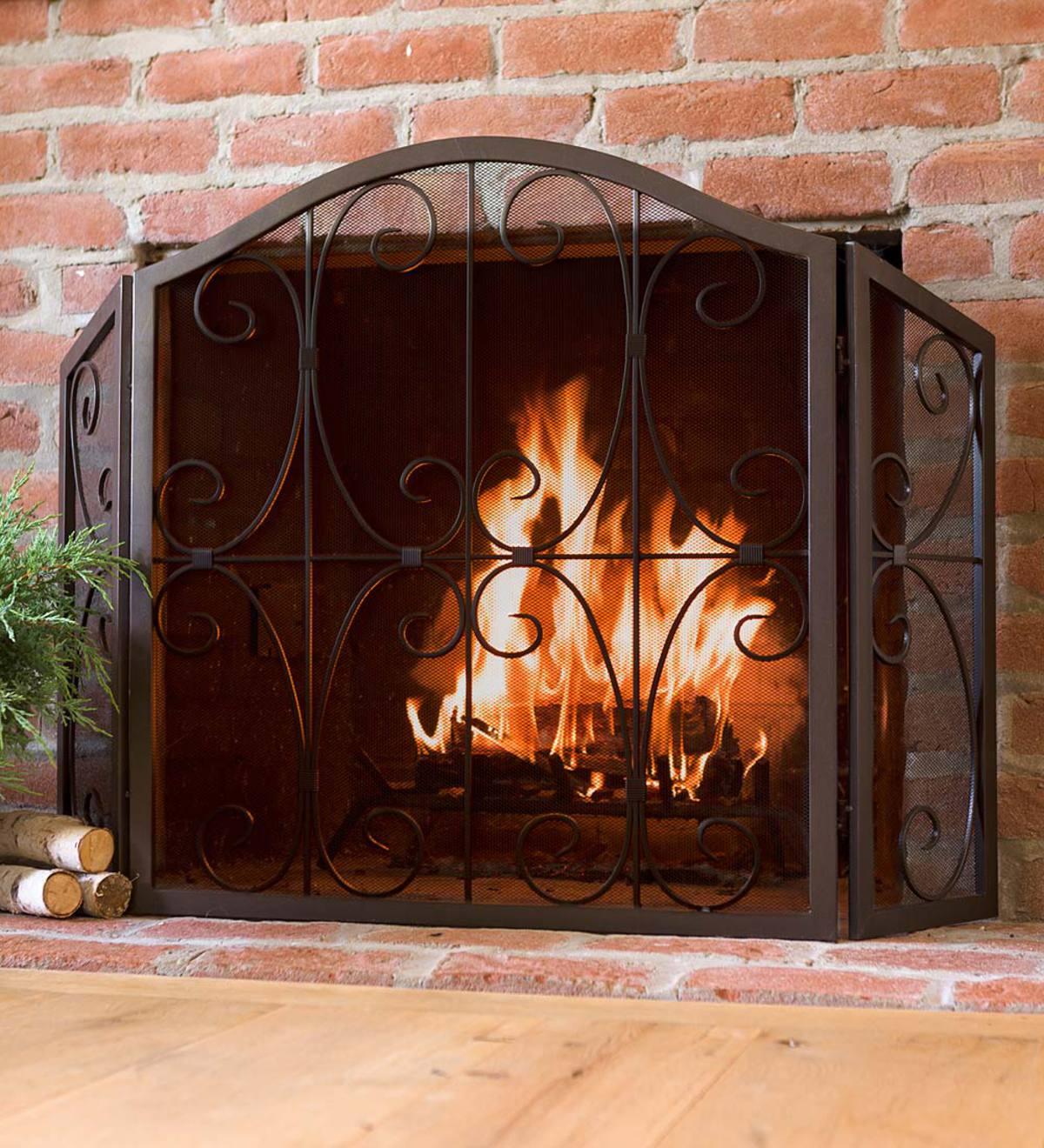 Crest Tri Fold Fire Screen All Fireplace Screens