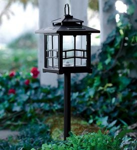 3-in-1 Solar Lanterns with Shepherd's Hook/Ground Stake, Set of 2 - Bronze