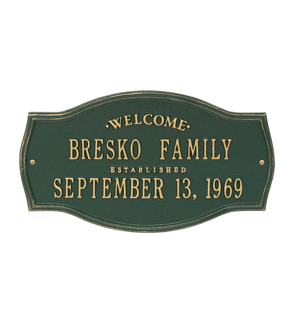 Heirloom Personalized Welcome Wall Plaque