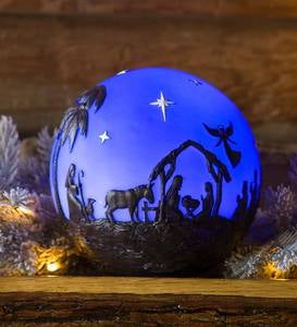 Glowing 3D Christmas Nativity Globe