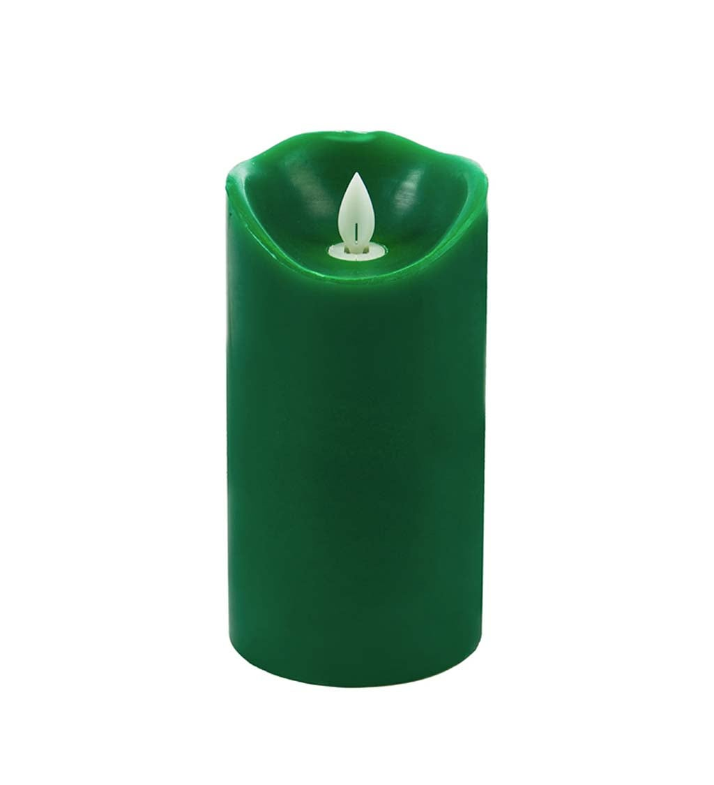 Scented LED Pillar Candle with Moving Wick
