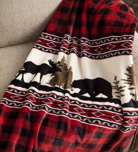 Wilderness Buffalo Plaid Fleece Throw