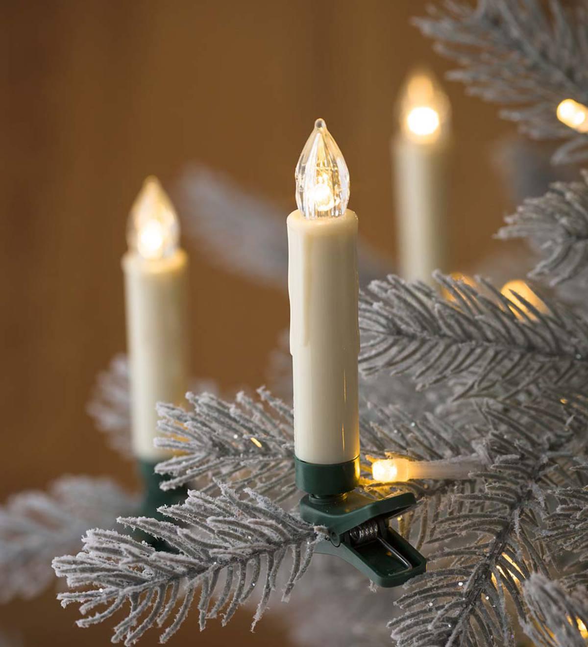 Christmas Tree Made Of Christmas Lights: Clip-On Christmas Tree Candle Lights, Set Of 10