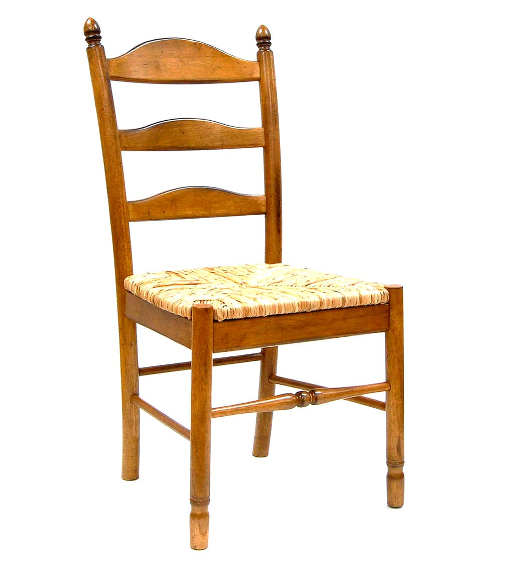 Farmhouse Hardwood Ladder Back Chair