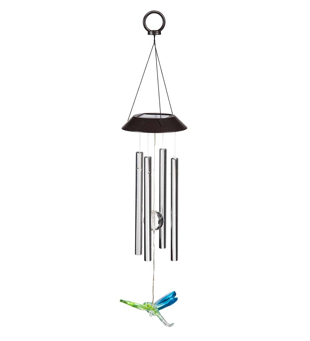 Winged Wonders Solar Wind Chimes, Set of 3