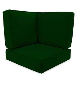 Box-Edge Polyester Replacement Corner Cushions, Claremont Seating - Forest Green