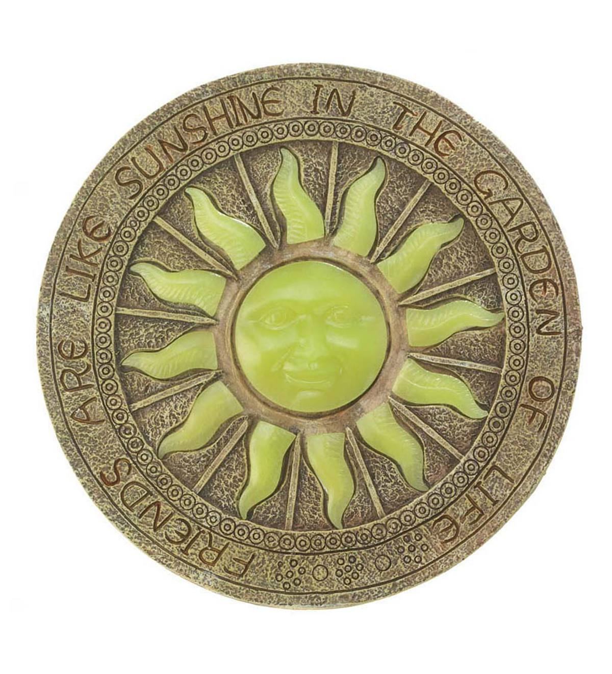 Sun Glow-In-The-Dark Garden Stepping Stone