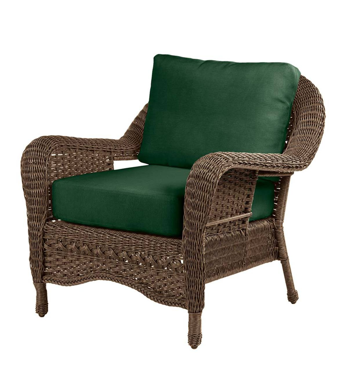 Prospect Hill Wicker Deep Seating Sofa with Cushions ...