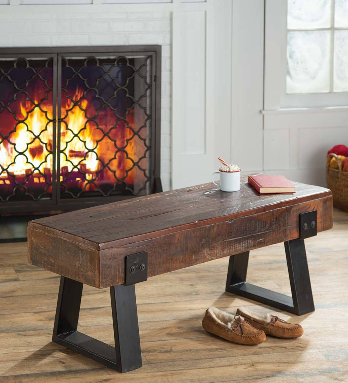 Richland Indoor Outdoor Reclaimed Wood Bench Plowhearth