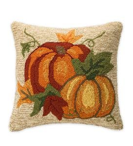 Indoor/Outdoor Pumpkin Throw Pillow