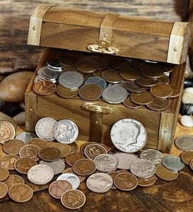 Treasure Chest Of Coins