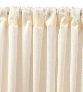 "63""L ThermaSheer™ Insulating Rod-Pocket Semi-Sheer Window Curtain Panel - Ivory"