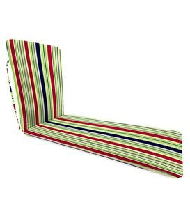 "Sale Polyester Classic Chaise Cushion With Ties, 77""x 23½""x 2½""hinged 47½""from bottom - Midnight Butterfly"