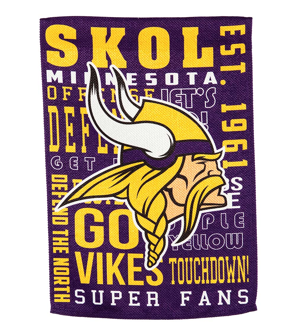Double-Sided Fan Rules NFL Team Pride Sueded House Flag