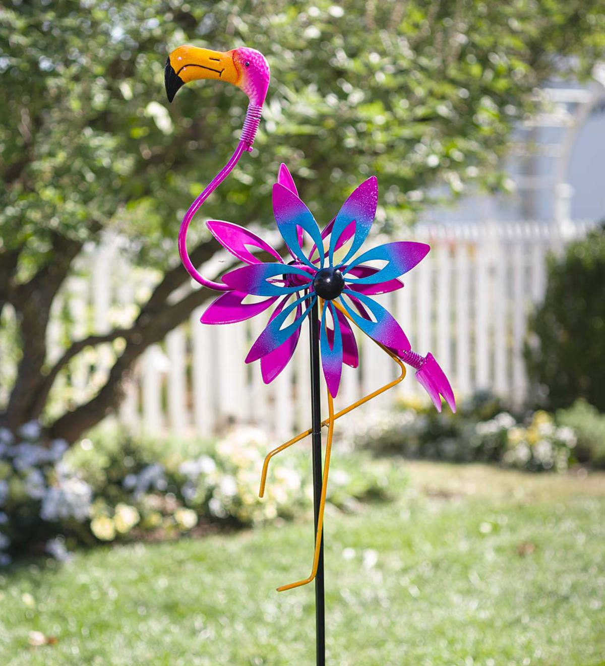 Flamingo Wind Spinner with Bobble Accents - Flamingo