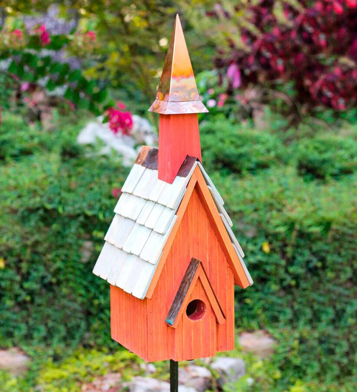 Pineywoods Chapel Cypress Birdhouse - Red