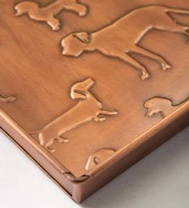 Embossed Metal Dog Breeds Boot Tray