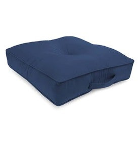 "Sunbrella® Classic Tufted Floor Cushion With Handle, 20""sq. x 4"""